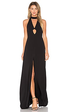 High Neck Gown in Black