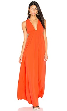Cross Back Gown in Tangerine