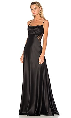 Lace Panel Gown