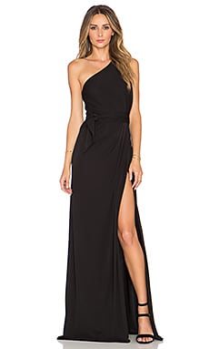 JILL JILL STUART One Shoulder Maxi Dress en Noir