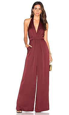Halter Jumpsuit in Oxblood