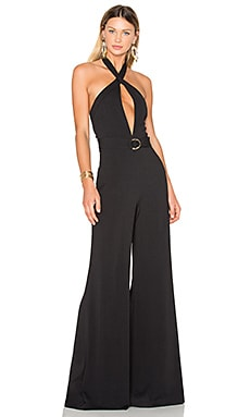 Halter Jumpsuit in Black