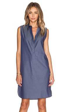 Jenni Kayne Placket Dress in Denim