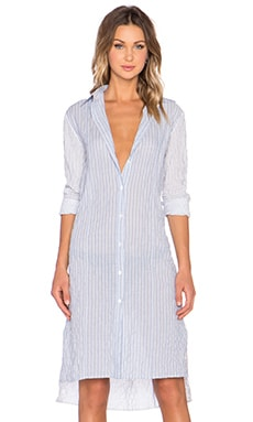 Jenni Kayne Seam Dress in Blue & White