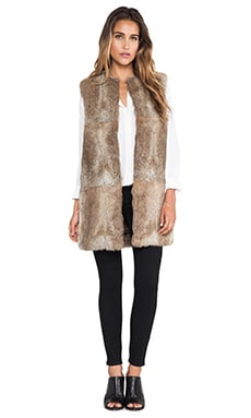 Jenni Kayne Rabbit Fur Vest in Natural