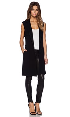 Jenni Kayne Sleeveless Trench Coat in Black