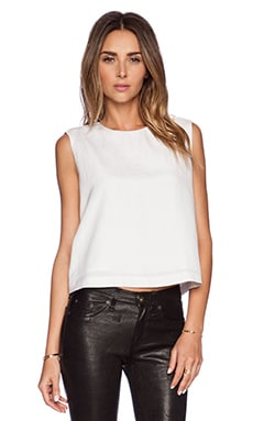 Jenni Kayne Sleeveless Shell Top in White
