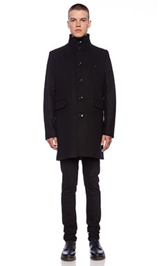 J. Lindeberg Gavin 46 Compact Melton Jacket in Black