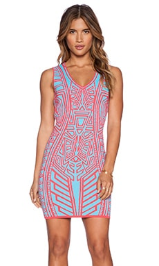 John & Jenn by Line Brook Mini Dress in Tropical Waves