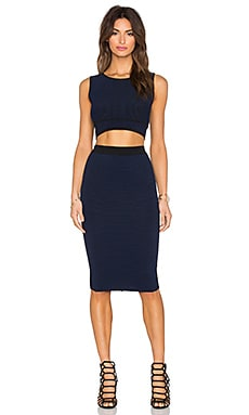 John & Jenn by Line Teedra Crop Top & Midi Skirt in Night Fall