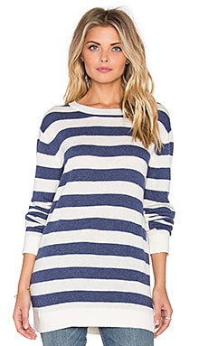 John & Jenn by Line Trey Striped Sweater in Ivory Slate