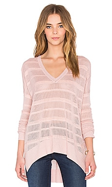 Mason 3/4 Sleeve Sweater en Rose Dust