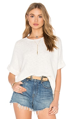 John & Jenn by Line Nimah Short Sleeve Sweater in Ivory