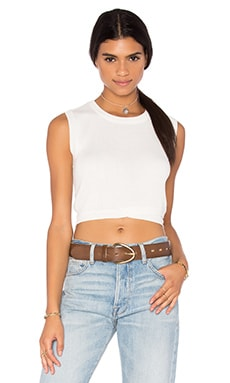 John & Jenn by Line Georgia Sleeveless Crop Sweater in Ivory