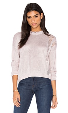 John & Jenn by Line Harley Crew Neck Sweater in Pink Chrome