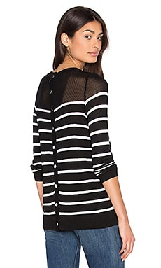 John & Jenn by Line Calida Stripe Sweater in Day & Night