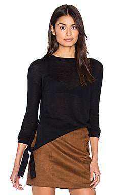 John & Jenn by Line Marti Tie Side Sweater in Tarmac