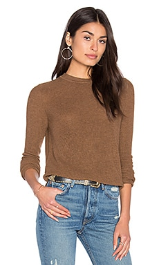 John & Jenn by Line Misha Crew Neck Sweater in Camel
