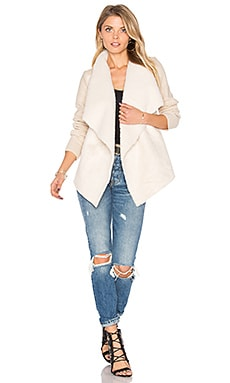 Sienna Faux Fur Cardigan in Almond Milk