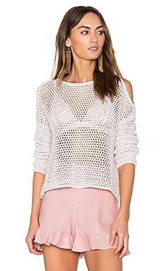 Faith Cold Shoulder Sweater in Shaker Beige