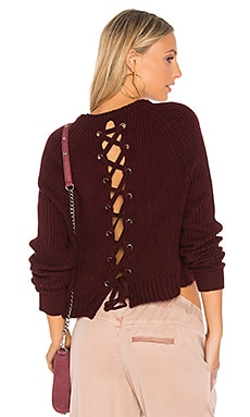 Aisha Lace Up Back Sweater