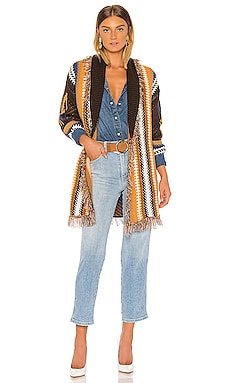 Julian Geo Wrap Cardigan John & Jenn by Line $125