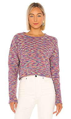 X REVOLVE Shiloh Fuzzy Rainbow Space Dye Sweater John & Jenn by Line $30 (FINAL SALE)