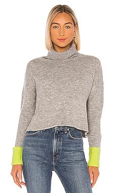X REVOLVE Oliver Contrast Cuff Turtleneck Sweater John & Jenn by Line $98