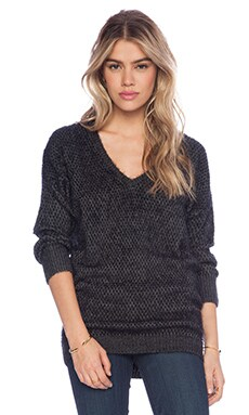 John & Jenn by Line Rev Sweater in Charcoal
