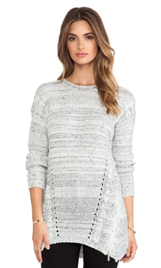 John & Jenn by Line Kloss Sweater in White Mix