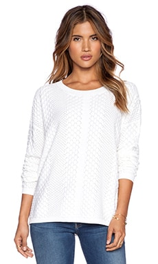 John & Jenn by Line Hugo Pullover in Ivory