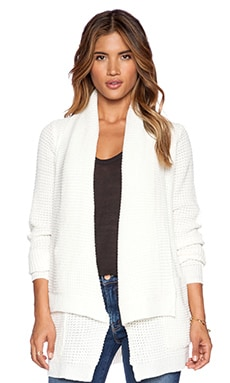 John & Jenn by Line Manon Cardigan in Ivory