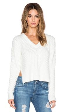 John & Jenn by Line Carmel Sweater in Ivory