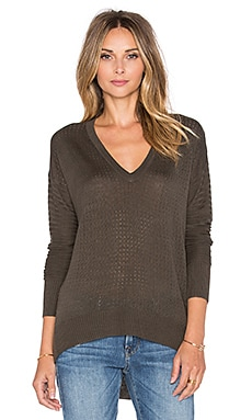 John & Jenn by Line Boxer Sweater in Army
