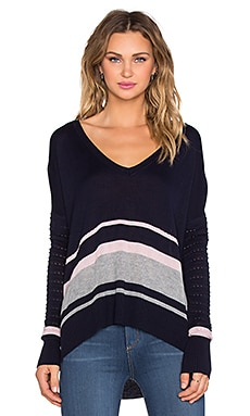 John & Jenn by Line Mick Sweater in Northern Navy