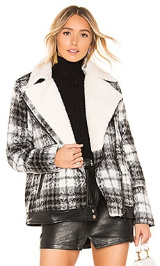 Faux Fur Jacket John & Jenn by Line $175 BEST SELLER