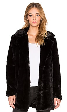 John & Jenn by Line Faux Fur Coat in Caviar