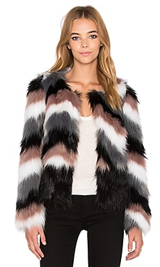 John & Jenn by Line Onyx Faux Fur Jacket in Indie