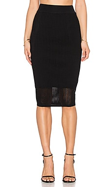John & Jenn by Line Taylor Midi Skirt in Caviar