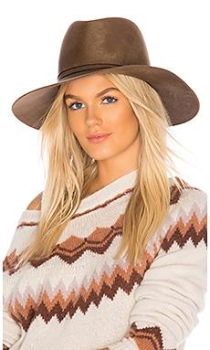 Купить Шляпа федора billie - Janessa Leone, Головные уборы, США, Серо-коричневый