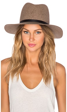 Janessa Leone Wegner Hat in Heather Mix