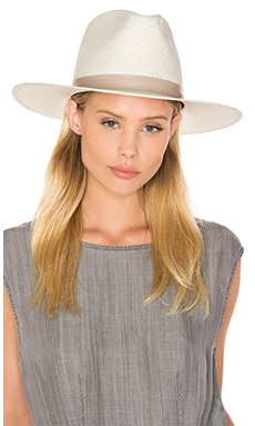 Aster Tall Crown Panama Hat in Bleach