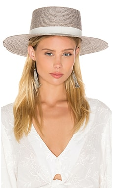 Janessa Leone Calla Bolero Hat in Grey