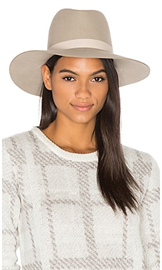 Ava Wide Brimmed Fedora in Pebble