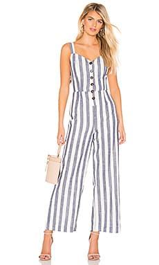 Striped Back Tie Jumpsuit J.O.A. $68
