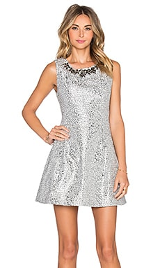 Embellished Dress in Silver