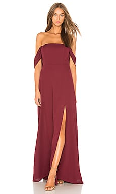 Front Slit Off The Shoulder Maxi Dress