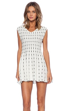 J.O.A. Dotted Dress in Ivory