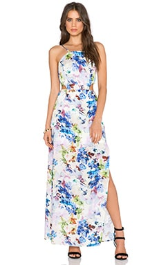 J.O.A. Floral Maxi Dress in Purple Multi