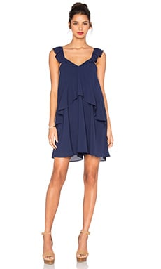 Ruffle Tank Dress in Navy